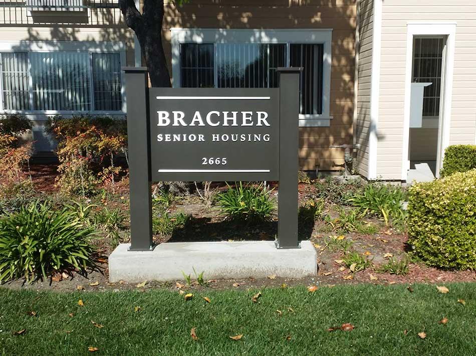 Bracher Senior Housing Sign